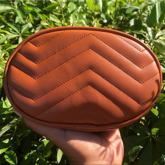 Evolving Always Handbags - New Cognac Color Belt Bag Compact & Roomy